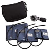 ADC Multikuf 731 3-Cuff EMT Kit with 804 Portable Palm Aneroid Sphygmomanometer, Small Adult, Adult...
