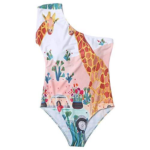 Damen Badeanzug einteiliger Badeanzug Animal Print One-Shoulder Badeanzug Sommer cool Badeanzug sexy Bikini-Mädchen