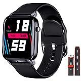 EPILUM Smartwatch Hombre, Impermeable Reloj Inteligente Mujer, con GPS Podómetro, Pulsómetro, Monitor de Sueño,Monitores de Actividad, Pantalla Táctil Completa Reloj Fitness para Android y iOS