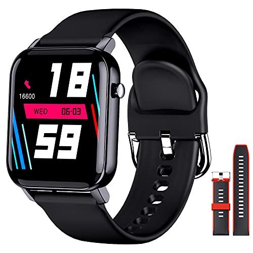 EPILUM Smartwatch Hombre Mujer, Reloj Inteligente Impermeable, con GPS Podómetro, Calorías, SpO2, Pulsómetro Reloj Deportivo al Aire Libre, 14 + días de batería Pulsera Actividad