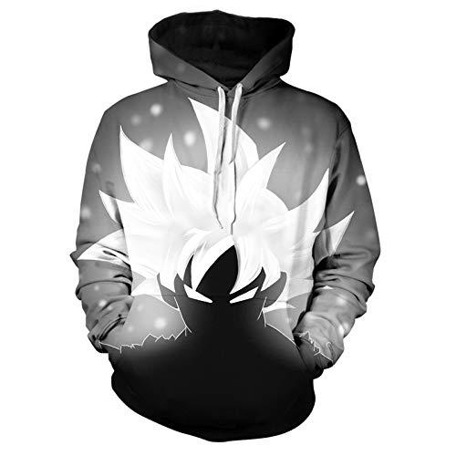 GIRLXV Chaqueta 3D para Hombre Abrigo Sudadera Suéter De Bolsillo Sudaderas con Capucha Goku Impreso Deportes Hombres Fitness Sudadera con Capucha M