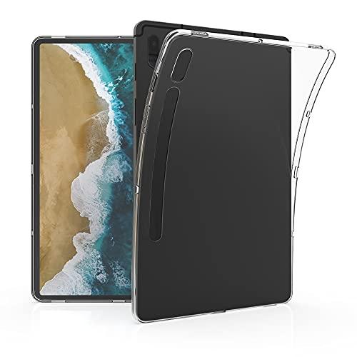 kwmobile Carcasa Compatible con Samsung Galaxy Tab S7 FE - Funda Tablet de plástico TPU - Estuche en Transparente