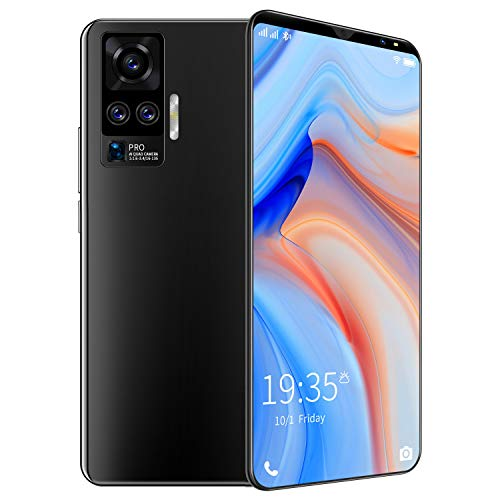 FJYDM Teléfonos Celulares Desbloqueados, Teléfonos Inteligentes 4G A Prueba De Caídas, 5 Pulgadas 6GB + 128GB [8 Core] Android 10 4800Mah Batería Y Teléfonos Móviles Face ID,Negro