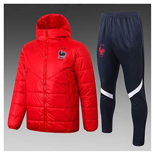 caijj Neue Herren Fußballuniform Geschenk Baumwolle Kleidung Fußball kältesicher Fußballfan kältesicher Anzug Fußball Hoodie männlich-B6-XL