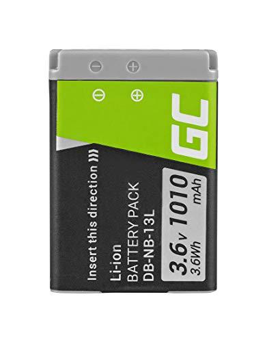 Green Cell® Batteria NB-13L NB13L per Canon PowerShot G1 X Mark II/III G5 X Mark II G7 X Mark II G9 X Mark II SX620 HS SX720 HS Fotocamera (1010mAh 3.6V)