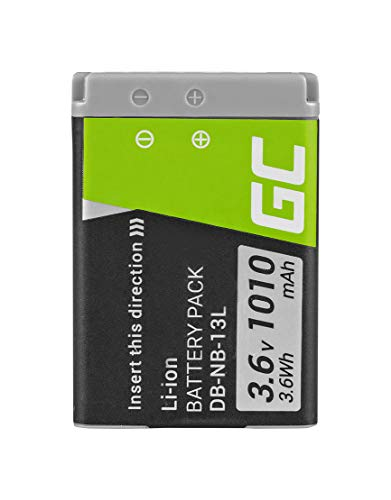 Green Cell® NB-13L NB13L Batería para Canon PowerShot G1 X Mark II/III G5 X Mark II G7 X Mark II G9 X Mark II SX620 HS SX720 HS Cámara, Full Decoded (1010mAh 3.6V)