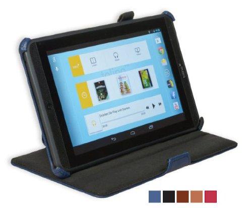 GeckoCovers Luxus Tolino Tab 7 Zoll Hülle Cover Case Tasche Etui ffür das Tolino Tablet 7 Zoll von Weltbild Hugendubel und Thalia mit Stand - und Präsentationsfunktion Cinema Standcase blau blue