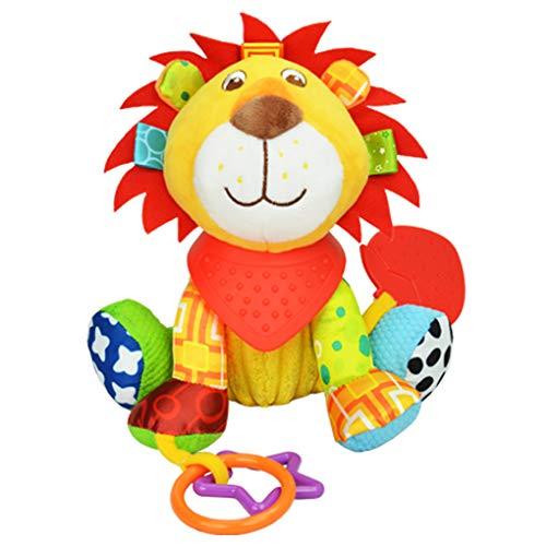 Cloudsemi Baby Kinderwagenspielzeug Baby Spielzeug Löwe Greifling Anhänger zum Aufhängen und Ringen zum Beißen, Greifen für Babys und Kleinkinder ab 0+ Monate
