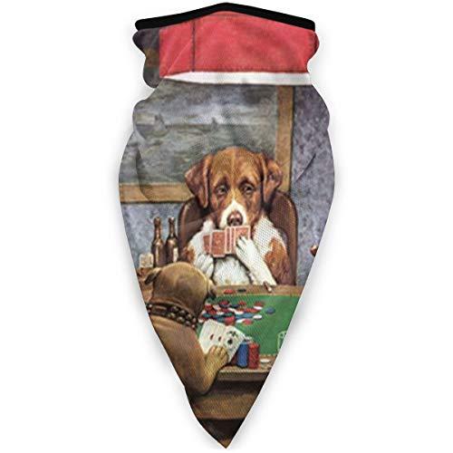 BJAMAJ Honden Spelen Poker Outdoor Gezicht Mond Masker Winddicht Sport Masker Ski Masker Schild Sjaal Bandana Mannen Vrouw