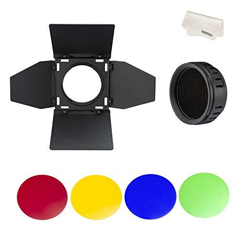 Godox BD-10 Barndoor Honeycomb con 4 filtros de Color Kit de