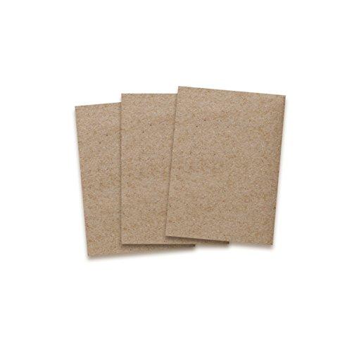 Kraftpapier-Karten in Braun - 50 Stück - bedruckbare Post-Karten in DIN A6 Format 10,5X 14,8 cm I 350g/m² I Exklusive Grußkarten für besondere Anlässe