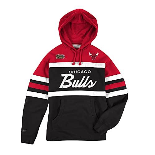 Mitchell & Ness NBA Head Coach - Sudadera con capucha, diseño de Chicago Bulls, talla M