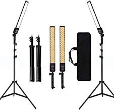 GIJUANRING 2 Packs Dimmable Bi-Color LED Video Light with TripodStand Bag Photography Lighting Kit for CameraVideo Studio YouTube Product Photography Shooting,376 LED Beads, 3200-5500K,CRI 96+