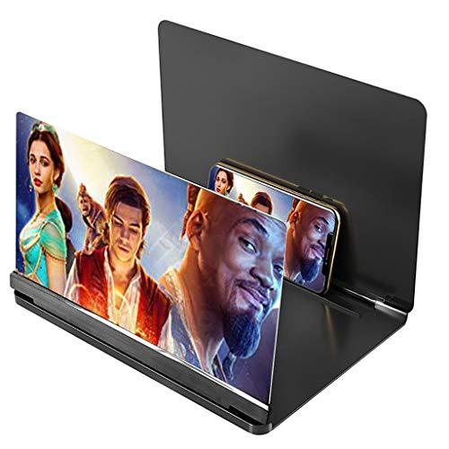 Lupa de pantalla Lupa de la pantalla del teléfono, amplificador de pantalla 3D Smartphone, amplificadores de pantalla plegable para teléfono inteligente, para ampliar pantallas Soporte para observar p