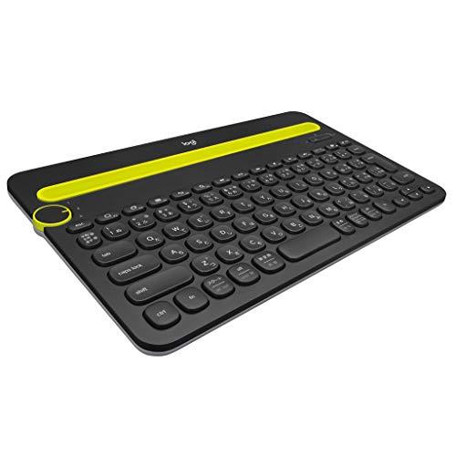 ロジクール ワイヤレスキーボード K480BK Bluetooth キーボード ワイヤレス 無線 Windows Mac iOS Android Chrome K480 ブラック 国内正規品 2年間無償保証