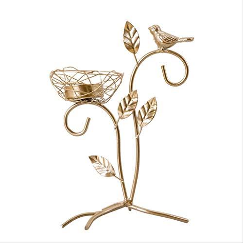 DAGONGREN Wrought Iron Golden Bird Scented Candlestick, Hotel Living Room Table Decoration Candlestick
