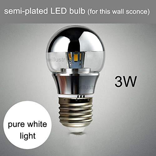 Moderne wandlamp, transparant, acryl, gegraveerd, Art Deco, schaduw, café, restaurant, hotel, 3 W, LED_pure_white_110-120 V