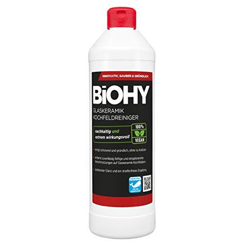 BiOHY Glaskeramik Kochfeldreiniger (500ml Flasche) | Optimal zur Reinigung und Pflege von Kochfeld und Induktion | Geeignet für ALLE GERÄTE
