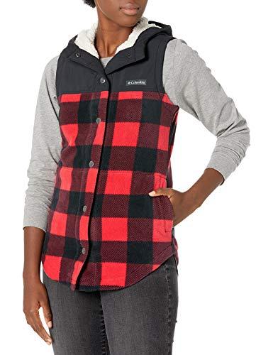 Columbia Women's Benton Springs Overlay Vest, Mountain Red Buffalo Check, Medium