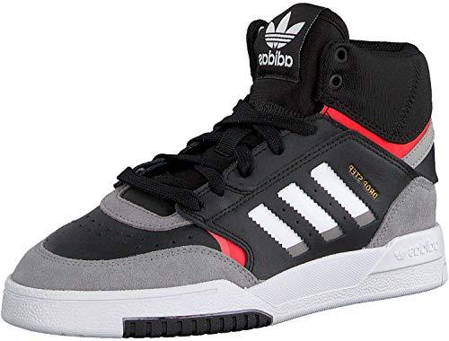 adidas Drop Step J, Zapatillas de Running Unisex Adulto, Multicolor (Core Black/Light Granite/Solar Red Ee8756), 38 2/3 EU