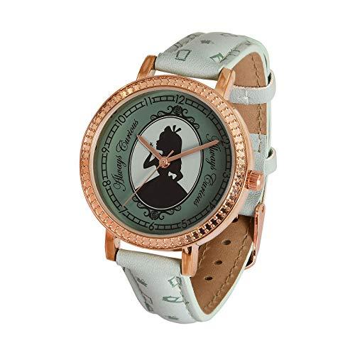 Accutime Reloj de Pulsera Alicia en el País de Las Maravillas Disney análogo Ø Caja 3.5cm Oro Turquesa