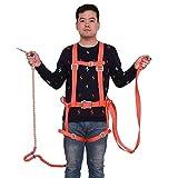 WXH Absturzsicherungs-Sicherheitsgurt-Kit, Sicherheitsschutz-Universalgurt-Kit, Hochwertiger, strapazierfähiger D-Ring aus rostfreiem Stahl mit kräftiger Verdickung