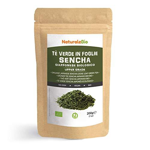 Japanischer Grüner Tee Sencha Bio [Upper grade] 200g. 100% natürlicher, reiner grüner Tee lose in Blättern der ersten Ernte, die in Japan angebaut werden. Pure Organic Japanese Sencha Green Tea