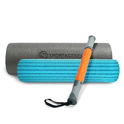 """Sportastisch 3in1 Faszienrolle Set """"Soft Roll"""" mit GRATIS E-Book für Einsteiger, Weiche Massagerolle für Selbstmassage Wirbelsäule Rücken Nacken, bis zu 3 Jahren Garantie & Testauszeichnung*"""