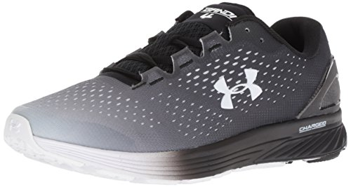 Under Armour Men's Charged Bandit 4 Running Shoe, White (102)/Black, 8.5
