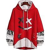 KENAIJING Sudadera Hombre Sudadera con Capucha para Hombre, Rojo 1, XL