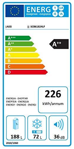 AEG SCB51821LS Kühl-Gefrier-Kombination (Gefrierteil unten - Einbau)/A++/177.2 cm/229kWh/Jahr /196 L Kühlteil /72 L Gefrierteil/Schlepptür-Technik