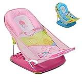 Moni Baby-Badewannen-Liege Rory Badewannensitz weiches Kissen 2 Sitzpositionen, Farbe:rosa