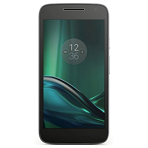 Motorola Moto G Play 4th Generation 16GB Unlocked GSM 4G LTE Android Smartphone w/ 8MP Camera (Black) (Renewed)