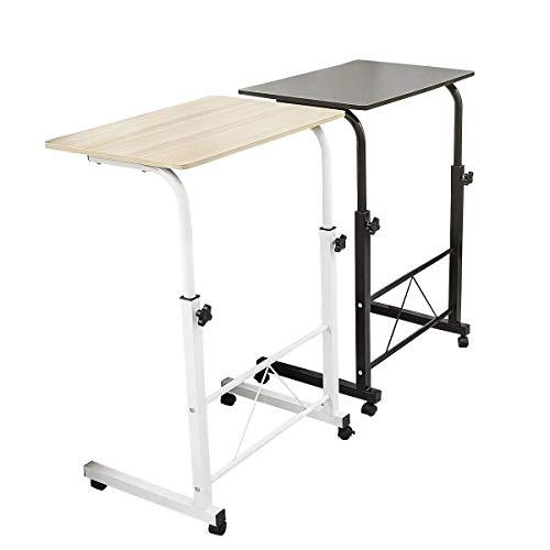 Escritorio de computadora de escritorio de madera con altura ajustable, escritorio de computadora con ruedas, mesa de plegado multifuncional de dormitorio estudiantil, mesa de noche, escritorio para c