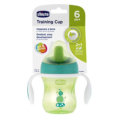 Tasse Training à bec - x1 - coloris aléatoire vert ou orange - 6m+