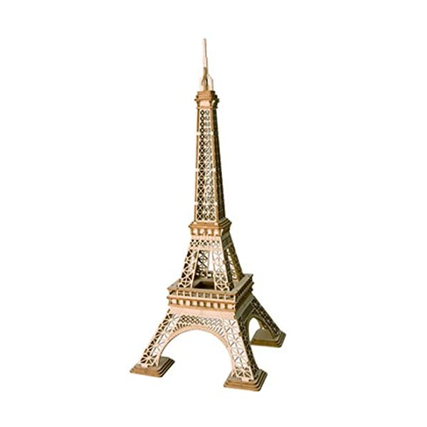 Rolife 3D Wooden Puzzle Wooden Craft Kit Eiffel Tower Model Kit Brain Teaser Games...