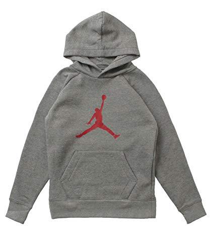 Nike Jordan Boys Carbon Heather Jumpman Fleece Sweatshirt Hoodie Size M
