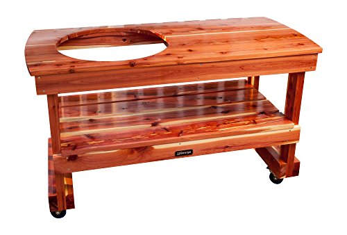 JJGeorge Big Green Egg Table (Long Table for Large...