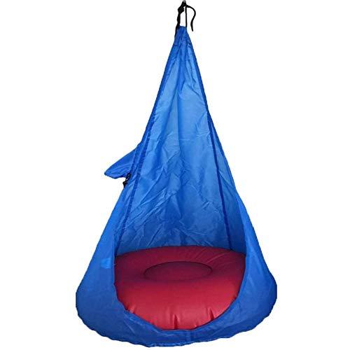 WXGY - Cocoon à suspendre avec poche à suspendre - Facile à accrocher et confortable - Convient aux filles et aux garçons Free bleu