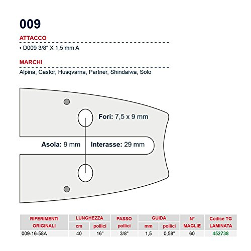 'Barre de tronçonneuse 40 cm – 16 \