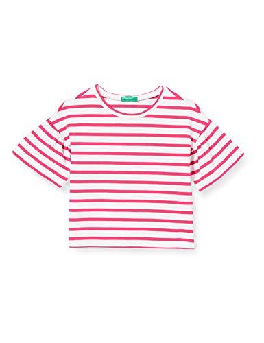 United Colors of Benetton Baby-Mädchen T-Shirt Pullunder, Pink (Bianco/Fucsia 906), 80/86 (Herstellergröße: 1y)