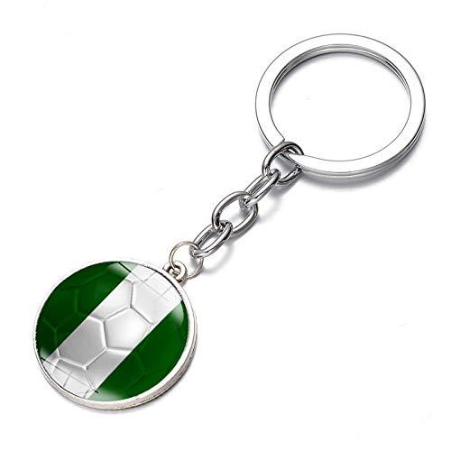 Partido De Fútbol Mundial Nationl Flag Llavero Nigeria
