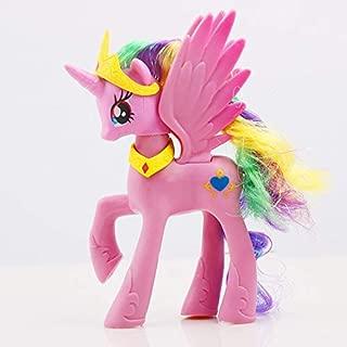 Pvc figure - 14cm My Little Pony Toys Princess Celestia Luna Pinkie Pie Rainbow Dash Unicorn PVC Action Figure Collection Model Doll For Girl
