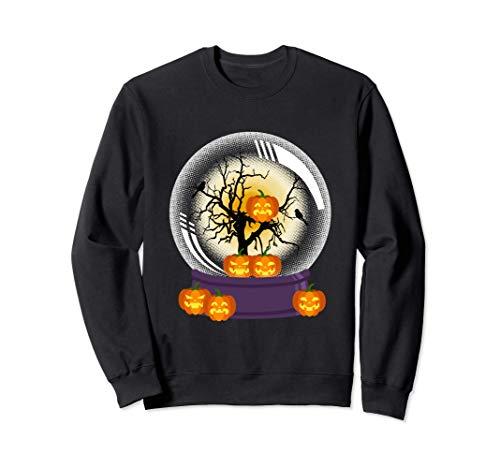 Halloween Schneekugel Jack O Laterne Kostüm Sweatshirt