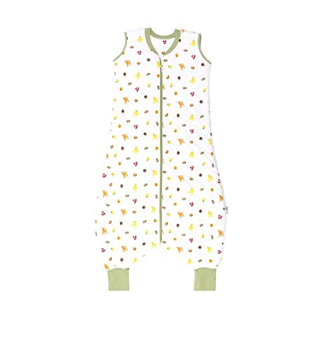 Schlummersack Baby Schlafsack mit Füßen Sommer 0.5 Tog 100 cm dünn Waldtiere | Schlafsack mit Beinen ungefüttert für eine Körpergröße von 100-110cm | Schlafsack Baby Sommer