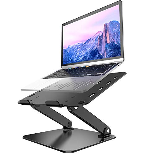Laptop Stand, Newild Ultra Large Adjustable Foldable Ventilated Notebook Riser, Ergonomic Height Angle Portable Laptop Stand Holder, Compatible for MacBook Pro/Air, Dell, Surface Laptop Up to 17.3'