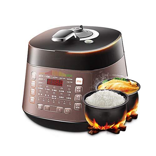 YFGQBCP Robot Cocina De presión eléctrica Olla de presión del hogar 5l Multifuncional Cocina eléctrica, Alta presión Doble bilis Inteligente Arrocera, de descompresión automática