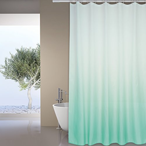 """MSV Anti-Schimmel Duschvorhang - Anti-Bakteriell, waschbar, wasserdicht - Polyester, """"Pastell Grün"""" 180x200cm"""