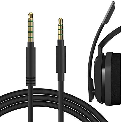 Geekria Audiokabel für Astro Gaming A10, A30, A40, Gaming Headset Ersatzkabel / 5 Stufen bis 4 Stufen, Kopfhörer Audio Ersatzkabel (3,5 Stecker auf 3,5 Stecker, Schwarz)