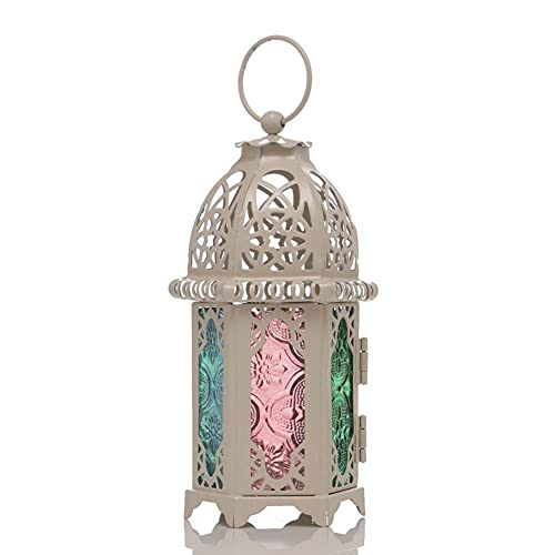Aokali 2 piezas de metal té luz soporte tamaño pequeño boda centro decoración cristal transparente lámpara colgante boda hogar decoración